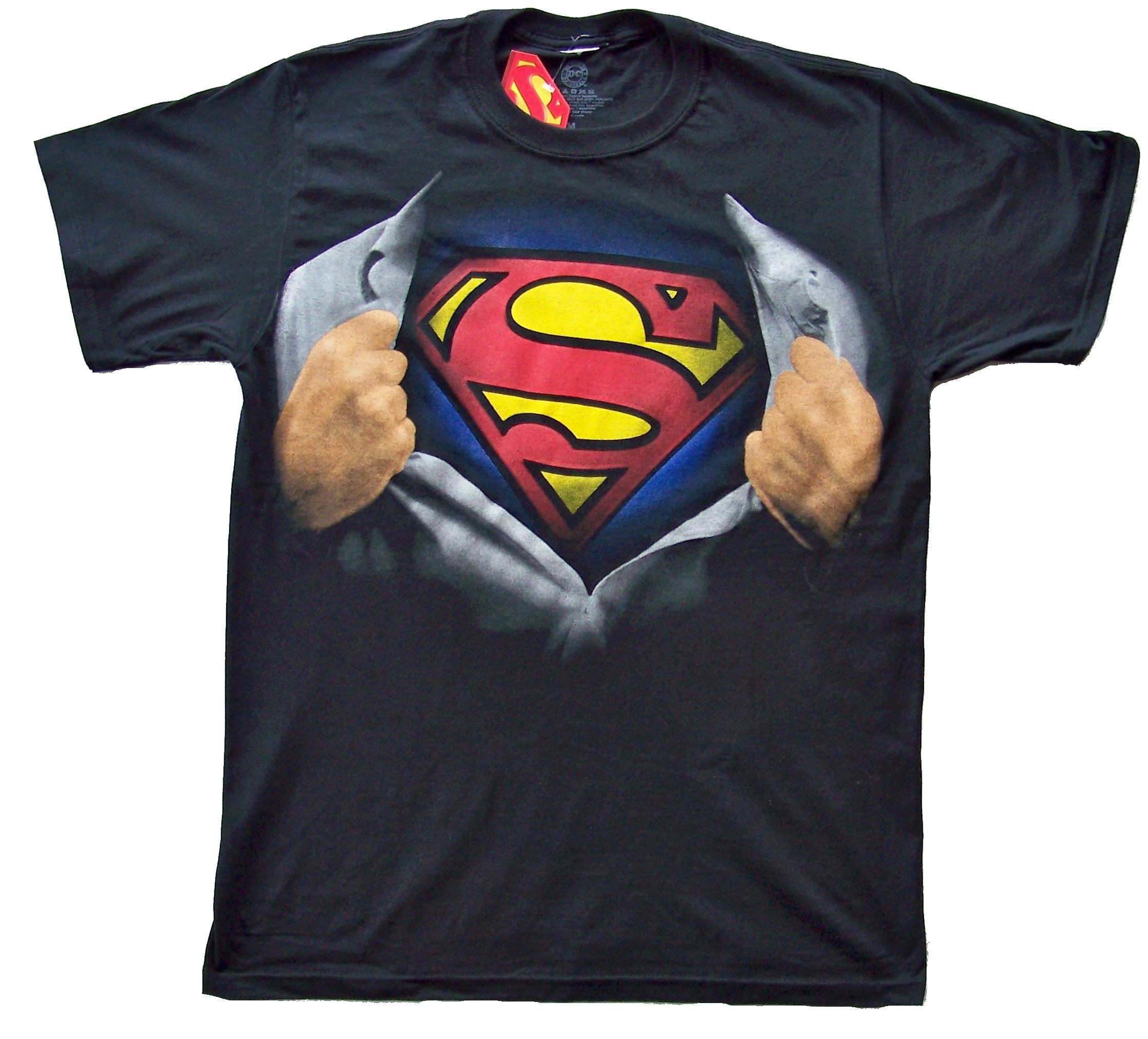 superman shield clark kent reveal costume man of steel t shirt tee xxl. Black Bedroom Furniture Sets. Home Design Ideas